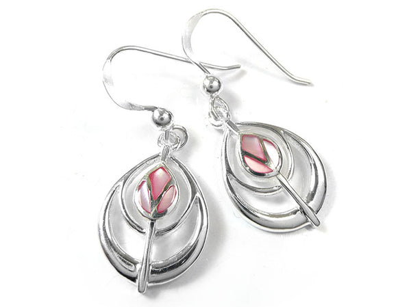 Silver Earrings - Mackintosh Tulip