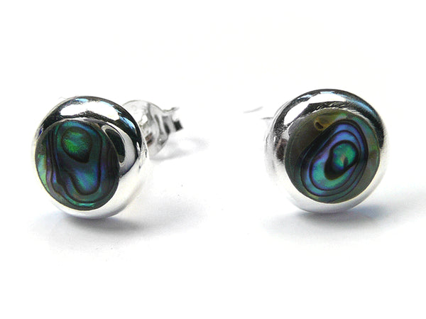 Silver Earrings - Paua Shell Small