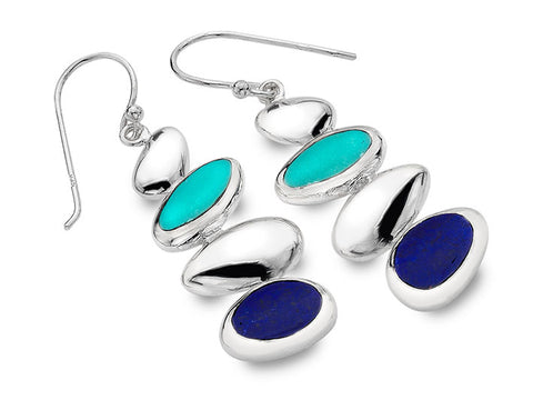 Silver Earrings - Pebbles