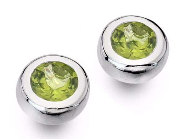 Silver Earrings - Peridot