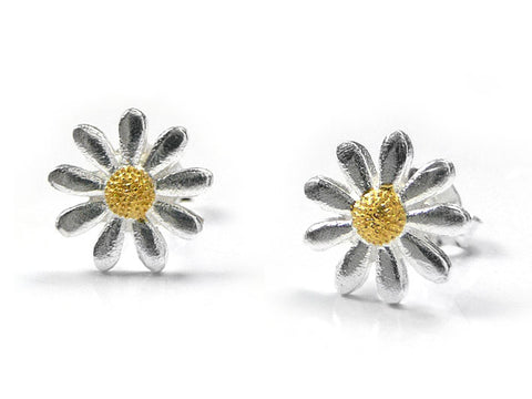 Silver Earrings - Plain Daisy