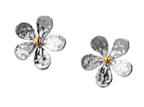 Silver Earrings - Simple Daisy Studs