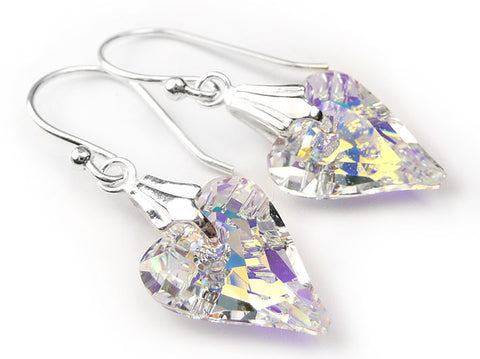 Silver Earrings - Swarovski Wild Heart