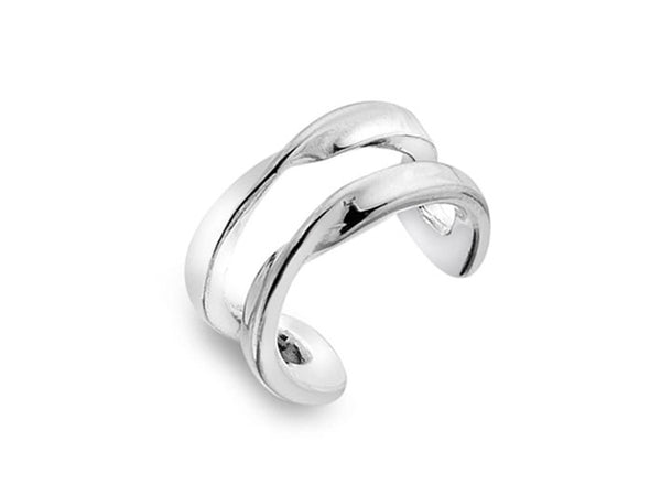 Silver Earrings - Twisted Ear Cuff