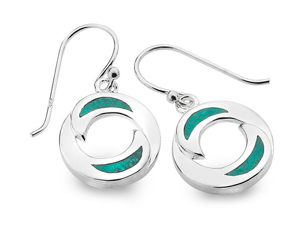 Silver Earrings - Ying and Yang