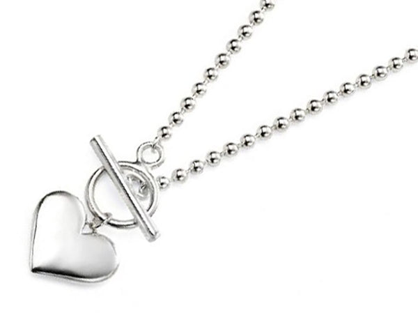 Silver Necklace - Heart