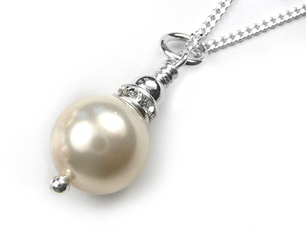 Silver Pendant - Annabel White