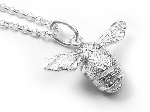 Silver Pendant - Bee