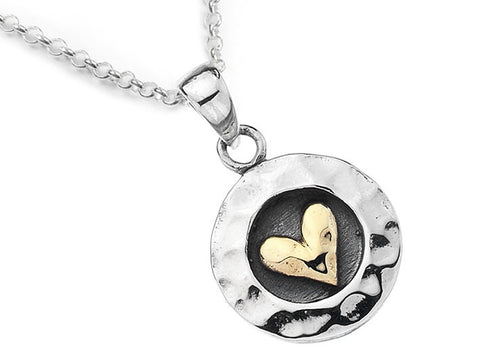 Silver Pendant - Captured Heart