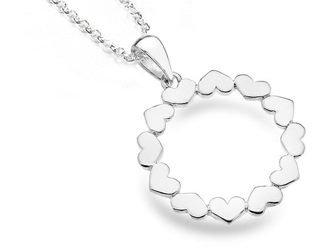Silver Pendant - Circle Of Love