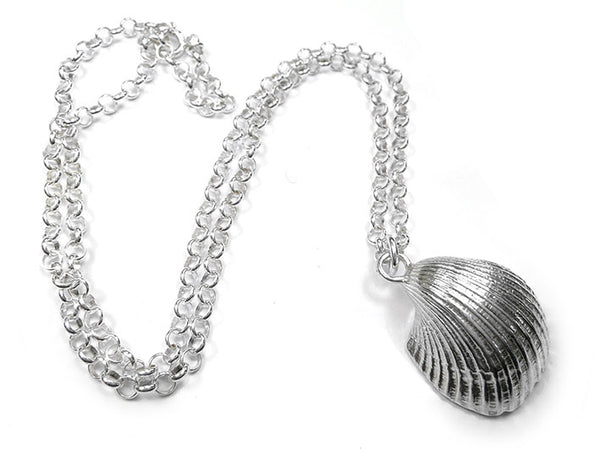 Silver Pendant - Clam Large