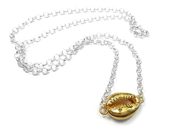 Silver Necklace - Cowrie
