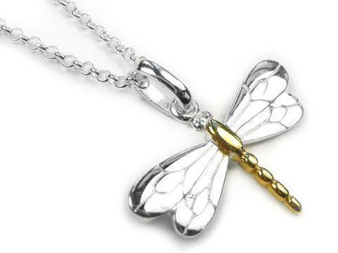 Silver Pendant - Dragonfly