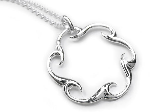 Silver Pendant - Eternal Waves