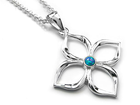 Silver Pendant - Flower Power