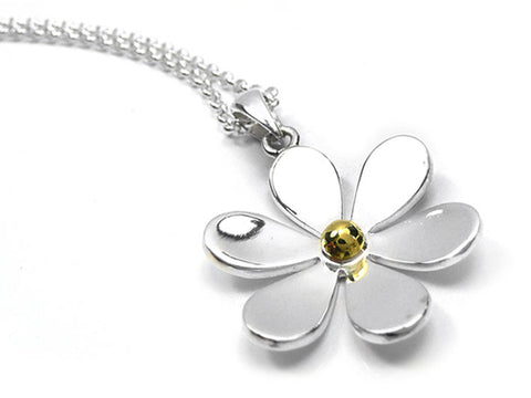 Silver Pendant - Large Flower