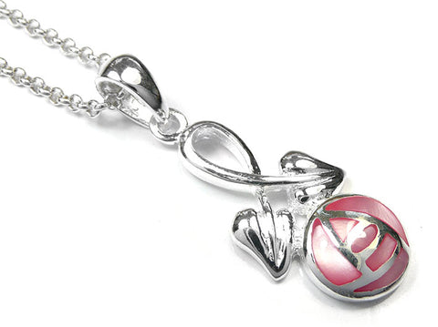 Silver Pendant - Mackintosh Rose
