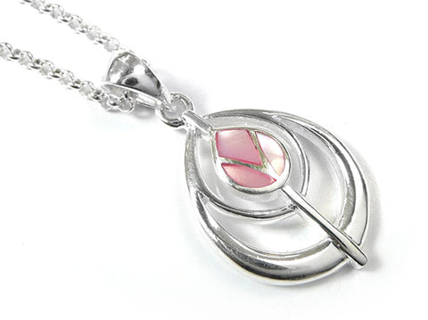 Silver Pendant - Mackintosh Tulip