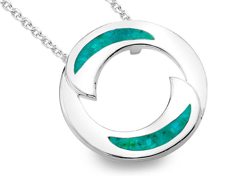 Silver Pendant - Ying and Yang