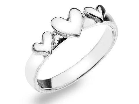 Silver Ring - Heart Trio