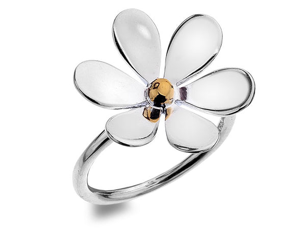 Silver Ring - Large Flower