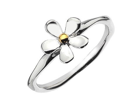 Silver Ring - Simple Flower