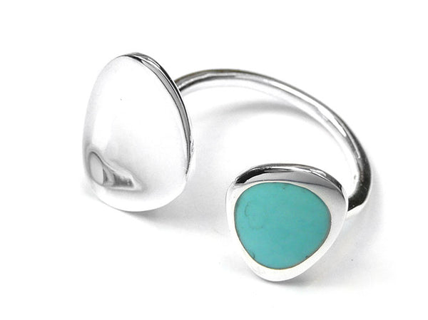 Silver Ring - Turquoise Pebble