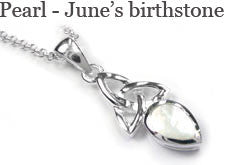 June's birthstone jewellery - pearl
