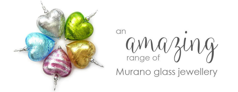 Murano glass jewellery collection