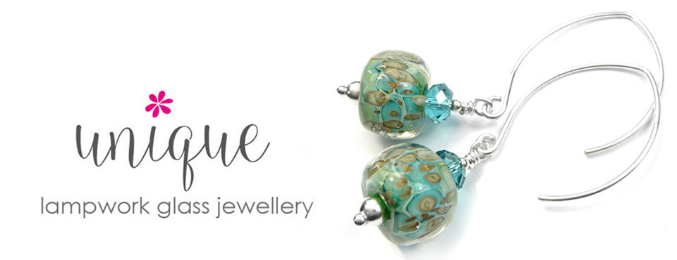 Lampwork glass jewellery collection