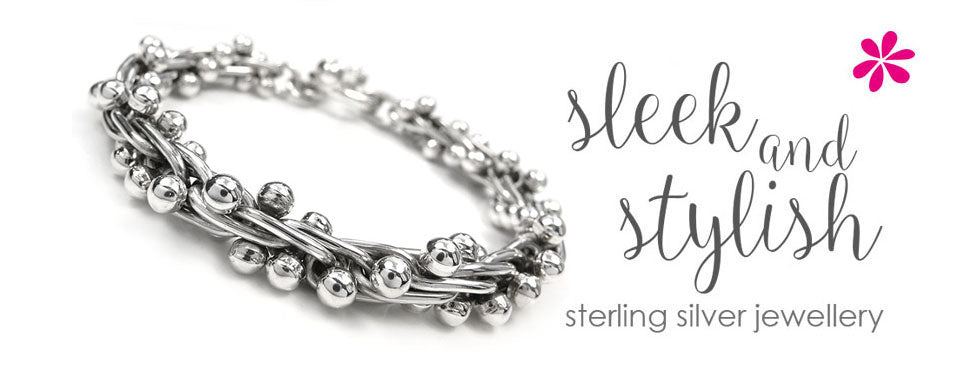 Plain silver jewellery collection