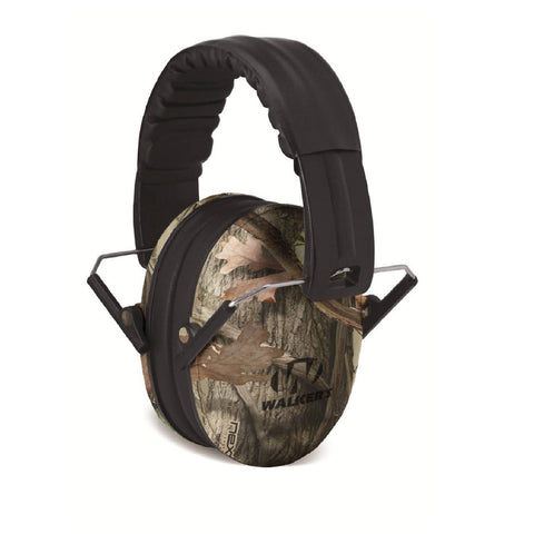 Walkers Kid Passive Folding Muff-23dB NRR-Camo
