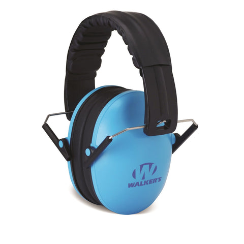 Walkers Kid Passive Folding Muff-23dB NRR-Blue