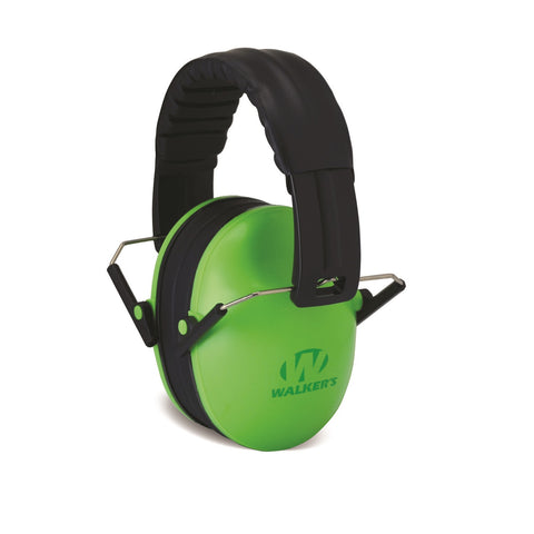 Walkers Kid Passive Folding Muff-23dB NRR-Lime Green