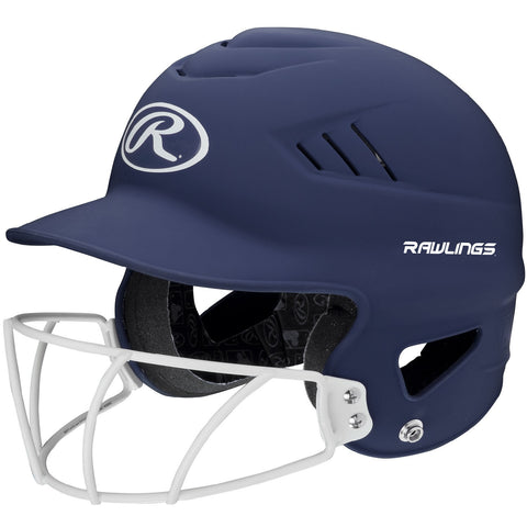 Rawlings Coolflo Highlighter Softball Helmet/Face Guard-Navy