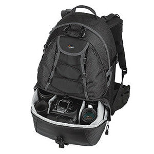 Lowepro CompuRover AW Digital Camera and Laptop Computer Backpack - Backpack - TXP - Black