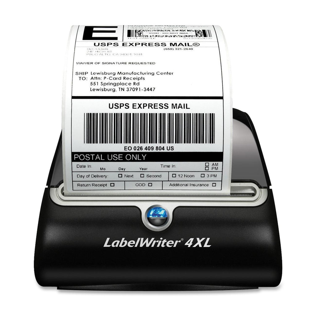 "Dymo LabelWriter 4XL Direct Thermal Printer - Monochrome - Desktop - Label Print - 4.16"" Print Width - 3.20 in/s Mono - 300 dpi - USB"