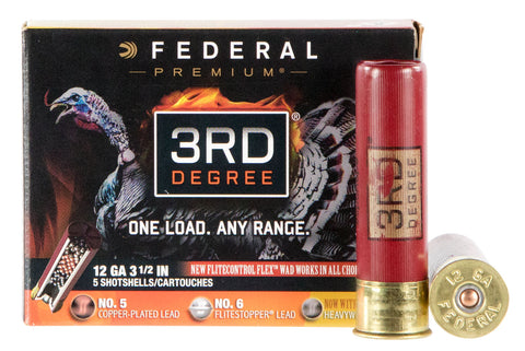 "Federal PTDX139567 3rd Degree Turkey 12 Gauge 3.5"" 2 oz 5,6,7 Shot 5 Bx/ 10"