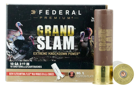"Federal PFCX101F5 Grand Slam Turkey 10 Gauge 3.5"" 2 oz 5 Shot 10 Bx/ 5"