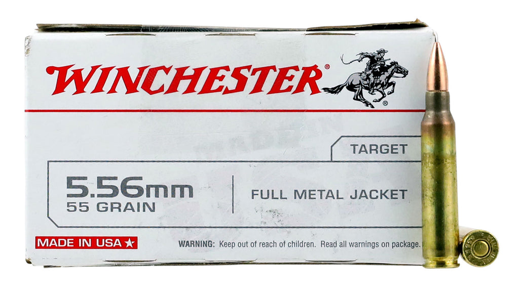Winchester Ammo Q3131L Best Value 223 Remington/5.56 NATO 55 GR Full Metal Jacket 20 Bx/ 25 Cs