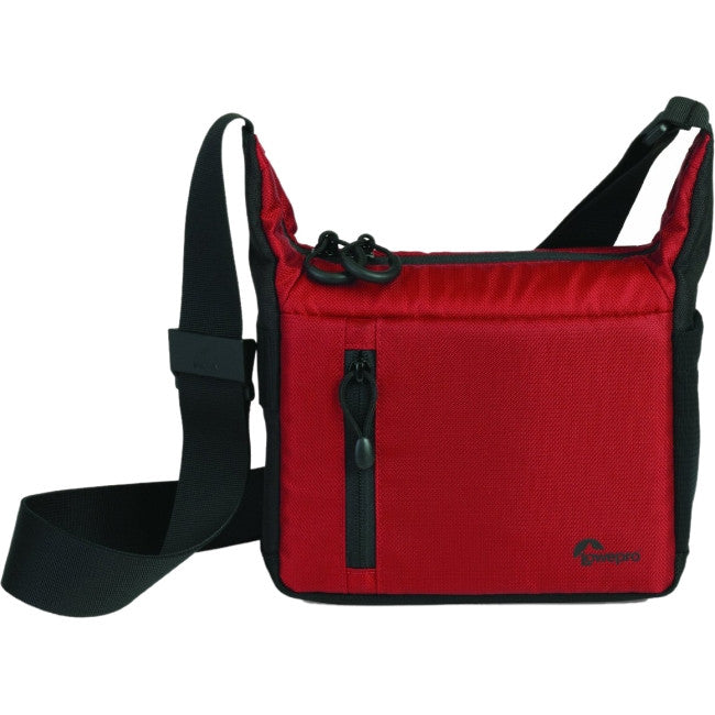Lowepro StreamLine 100 Carrying Case for Camera - Red, Black - Water Resistant - Nylon, Polyester