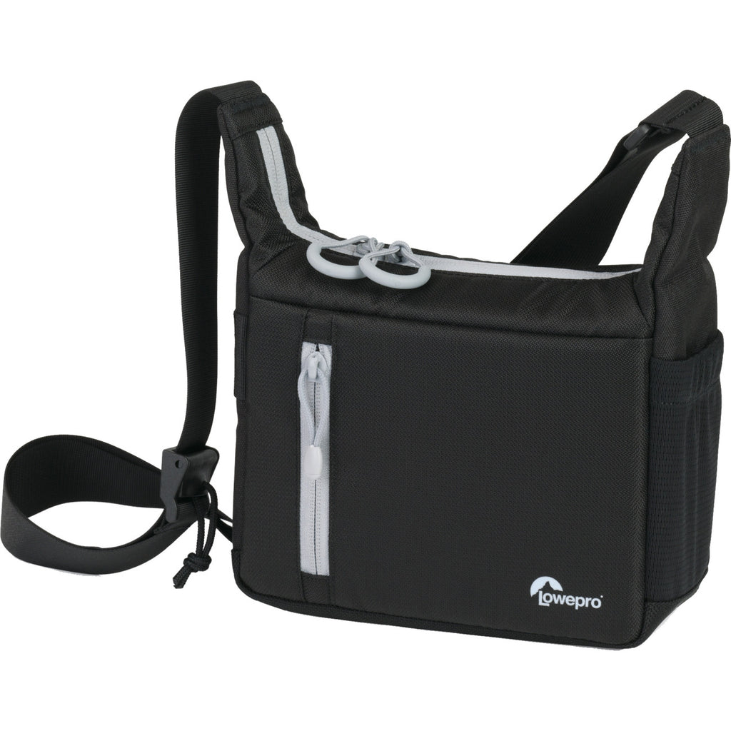 Lowepro StreamLine 100 Carrying Case for Camera - Black - Rain Resistant, Dust Resistant, Grime Resistant - Nylon, Polyester