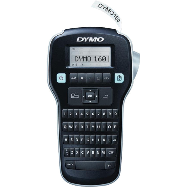 "Dymo LabelManager 160 Label Maker - Label, Tape - 0.24"", 0.35"", 0.47"" QWERTY, Underline, Vertical Printing, Print Preview, Manual Cutter"