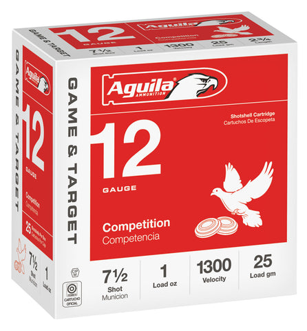 "Aguila 1CHB1327 Competition  12 Gauge 2.75"" 1 oz 7.5 Shot 25 Bx/ 10 Cs"