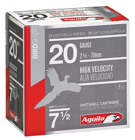 "Aguila 1CHB2048 Field  20 Gauge 2.75"" 1 oz 8 Shot 25 Bx/ 10 Cs"