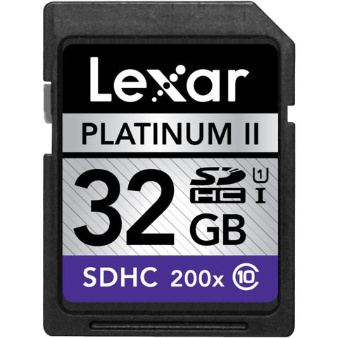 Lexar Platinum II 32 GB Secure Digital High Capacity (SDHC) - Class 10/UHS-I - 30 MBps Read - 9 MBps Write - 1 Card - 200x Memory Speed