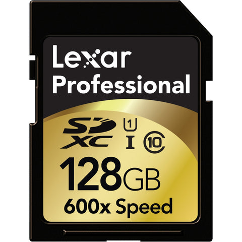 Lexar Media Professional 128 GB Secure Digital Extended Capacity (SDXC) - Class 10/UHS-I - 1 Card - 600x Memory Speed