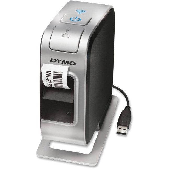 Dymo LabelManager PnP Thermal Transfer Printer - Monochrome - Desktop - Label Print - 300 dpi - Wireless LAN - USB - Battery Included - 0.50""