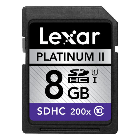 Lexar Platinum II 8 GB Secure Digital High Capacity (SDHC) - Class 10/UHS-I - 30 MBps Read - 1 Card - 200x Memory Speed