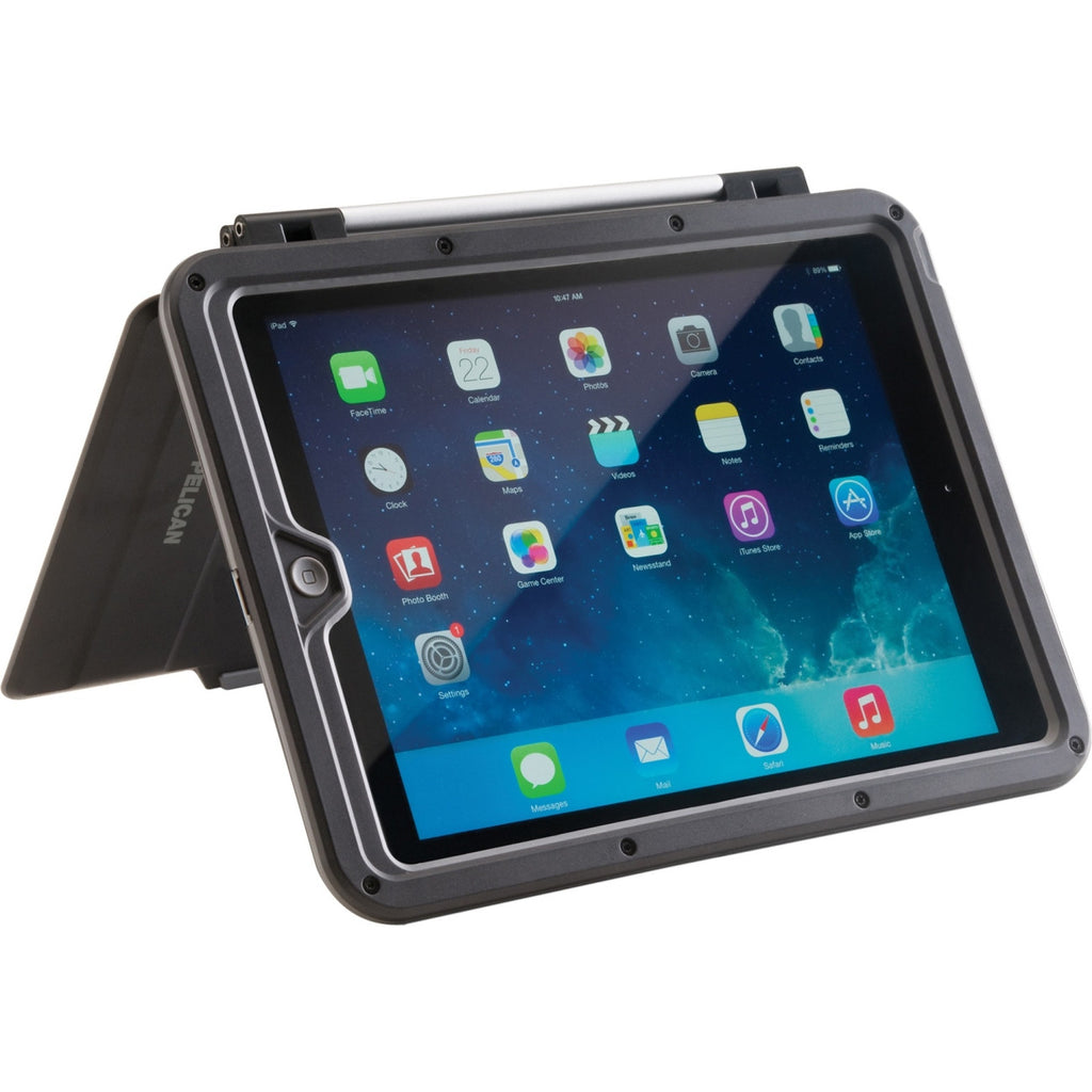 ProGear Vault Carrying Case (Cover) for iPad Air - Gray, Black - Rain Resistant, Snow Resistant, Dust Resistant, Impact Resistance, Water Resistant, Shock Absorbing - Aluminum
